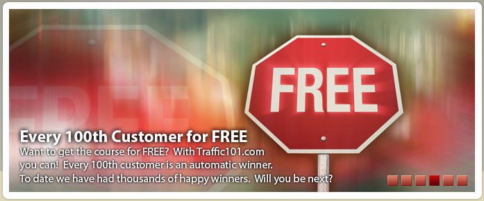 Every 100th customer who signs up for traffic school is free.